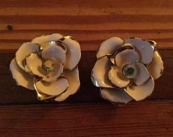Vintage Coro Clipon Floral Earrings