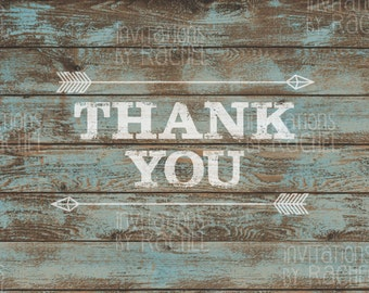 Rustic Arrow Thank You Cards (pack of 10)