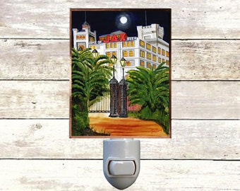 """Night Light, """"Jax Brewery"""", New Orleans Brewery,  Handmade, Copper Foiled"""