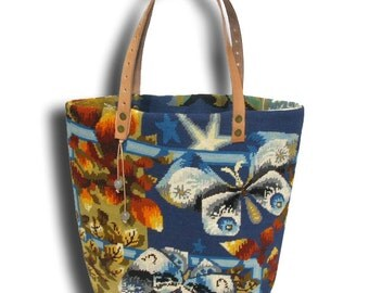 Le Gervaise, A French Tapestry Purse, Canvas Handbag