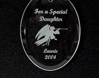 Engraved Glass Daughter Ornaments