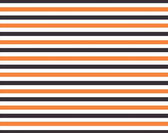Black, orange and white stripe craft  vinyl sheet - HTV or Adhesive Vinyl -  stripe pattern HTV3017