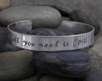 All you need is love Bracelet - Antiqued Copper