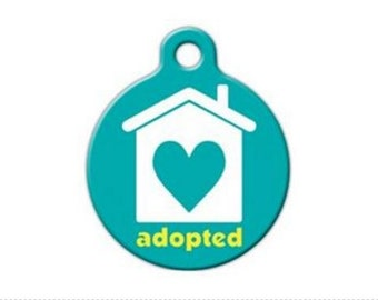 Adopted Shelter Rescue Pet Engraved Pet ID Tag