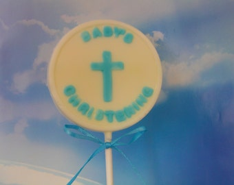 Babies Christening Lollipop-Perfect For Baby Boy! (12)-Beautiful Favors for Christening Parties/Receptions/Baptisms