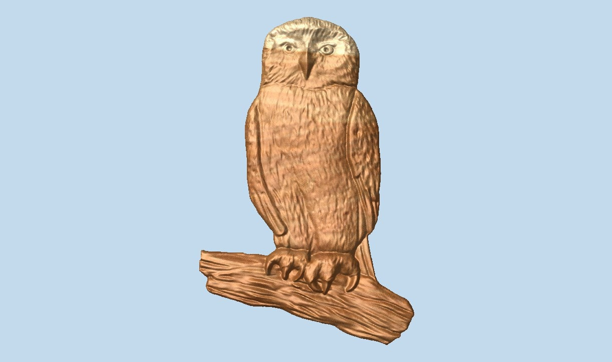 Wood wall art owl carving hanging rustic home
