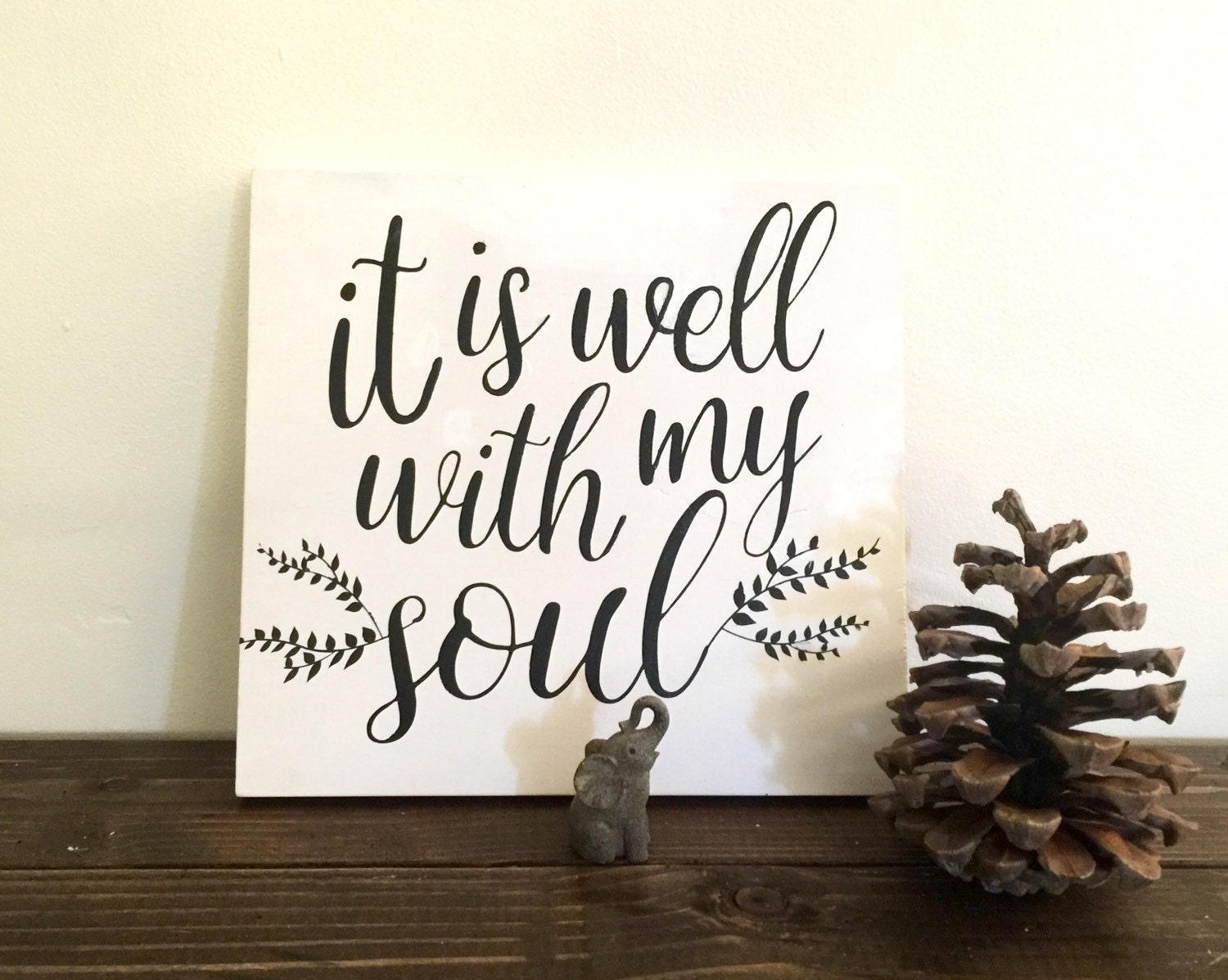 It Is Well With My Soul Picture Quotes: Sign With Quote: It Is Well With My Soul