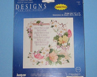 Janlynn Designs Counted Cross Stitch Faith 078-0110-w New Sealed Package 12 x12