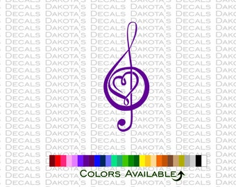 Pretty Treble Heart Decal
