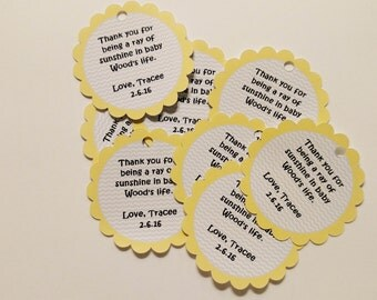 You are my sunshine favor tags (set of 24)