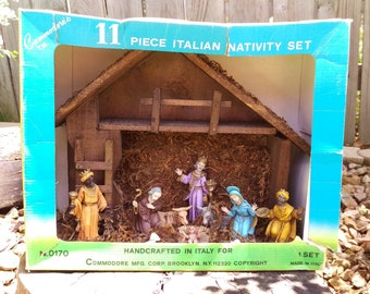 Nativity Set Commodore Made in Italy with Box