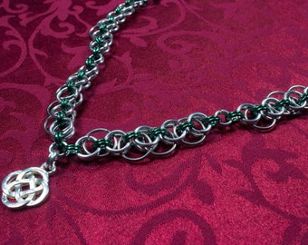 Celtic Helm Chainmaille Necklace