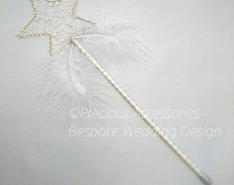 Wedding Star fairy wands, perfect for flower girls, bridesmaids, made to order, wedding accessories, bridal, brides