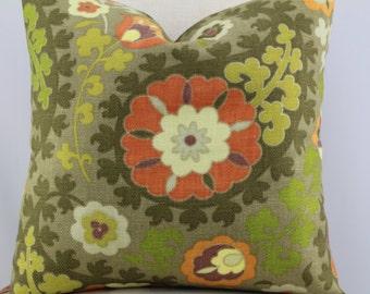 Suzani design fabric,pillow cover,accent pillow,decorative pillow.throw pillow,lumbar pillow same fabric on front and back.