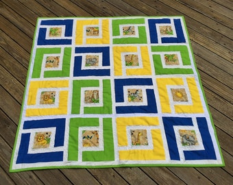 Baby Quilt - Welcome to the jungle