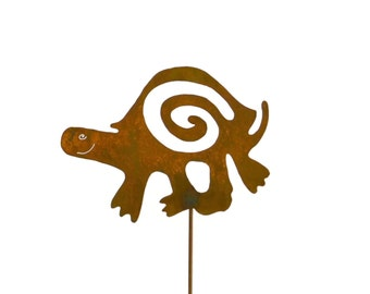 Turtle Metal Garden Stake, Yard Art GS37