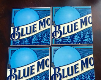 Blue Moon Beer Box Coasters
