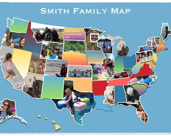 U S Map Photo Collage Placemat America United States