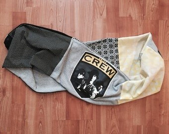 One of a Kind Upcycled Columbus Crew Soccer Infinity Scarf - Made from TShirts