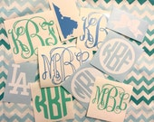 Vinyl Monogram Decal | Choose Your Size | Monogram Sticker | Car Sticker | iPhone Monogram | Laptop Sticker | Southern Sweetheart Gifts