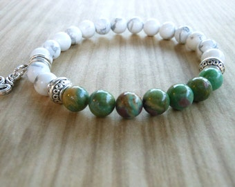 Ruby in Fuchsite Mala Bracelet, Healing & Balancing, Mala Bracelet, Yoga, Buddhist, Meditation, Prayer Beads