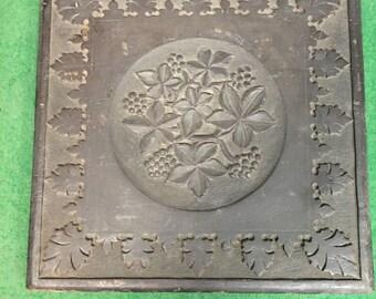 Antique Ornate Carved Wood Panel