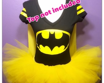 Batman Tutu, Superhero Running Tutu, Batman Costume, Adult Running Tutu, Yellow Tutu