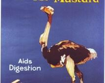 Vintage Colmans Mustard Advertising Poster A3 / A2 Print