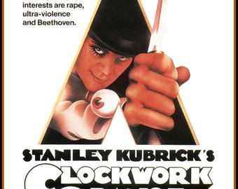 Clockwork Orange Movie Poster A3 reprint