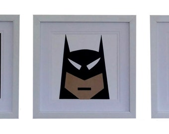 Framed Batman Artwork Set