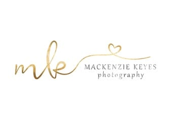 Premade Photography Logo and Watermark, Calligraphy logo, Elegant Handwritten Logo with Heart n080