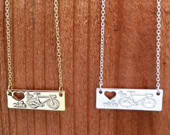 Cycling Necklace, Cycling Gift, Bicycle Necklace, Bike, Biking, Perfect gift for a cyclist!