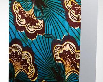 Ethnic Blue & Brown Wax Print Card