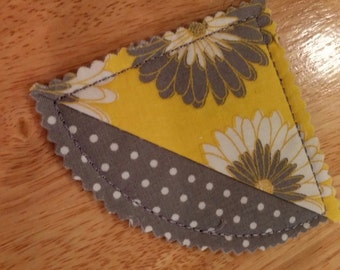 Corner Bookmark Shabby Embroidered Cotton Sunflower