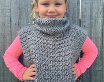 Crochet side button sweater