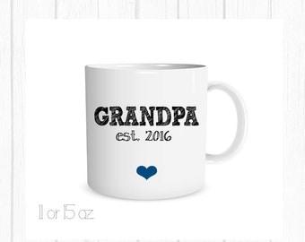 Father's Day Gift, Grandpa Coffee Cup, Grandpa Mug, Pregnancy Announcement, Birth Announcement Mug Personalized Mug, Custom Coffee Metalic