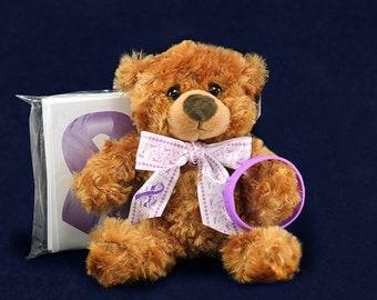 6 Purple Ribbon Awareness Gift Packs (6 Sets) (GPACK-4)