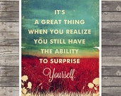 Week Discount ! American Beauty quotes Movie Poster II - Vintage Style Magazine Retro Print Watercolor Background - Pick your Size