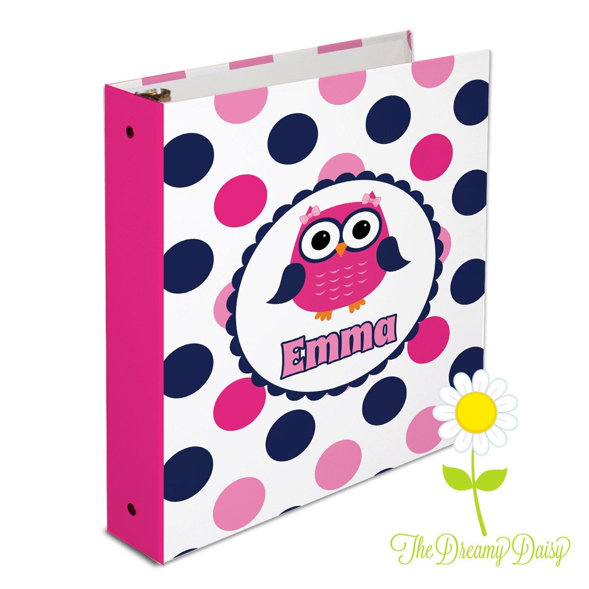 Personalized Owl Binder For Kids Owl 3 Ring Binder For Girls