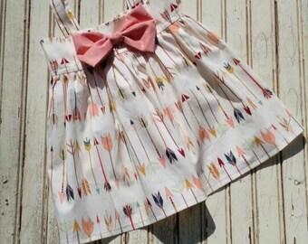 Aztec arrow Dress - Bow Dress - Arrow Dress