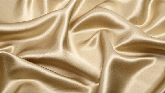 100 Mulberry Silk Fabric Color Champagne Pure Charmuse Silk