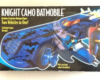 Vintage Knight Camo Bat Mobile Mint Original In Unopened Box With Exclusive Action Figure