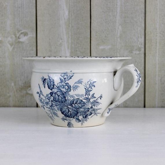 Ancien pot de chambre sarreguemines flore par ohlalacamille - Pot de chambre antique ...