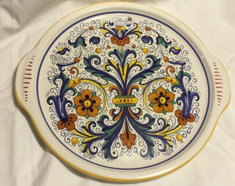 Nova Deruta Hand Painted Italian Ceramic Serving Platter