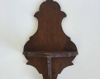 Vintage Handmade Wall Shelf for Knick Nacks
