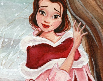 "Christmas Belle 4x6"" Fine Art Quality Print."