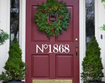 House Number Door Decal *READ ENTIRE DESCRIPTION*