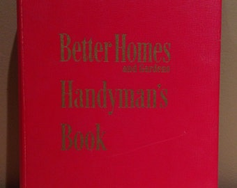 "Vintage 1951 Better Homes and Gardens ""Handyman's Book"" by Meredith Publishing in Des Moines, Iowa. Hardcover with 5 ring binder and 480 pag"