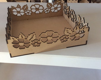 Wood box laser cut