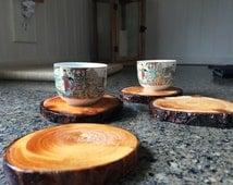 Natural Tree Limb Drink Coasters